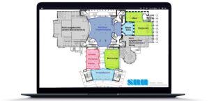 In der Planungsphase werden die Räumlichkeiten aufgenommen und analysiert (SBH-Industriesysteme Anbieter Site Survey)